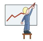 Geschäftsmänner zeichnet ein Diagramm Lizenzfreie Stockbilder