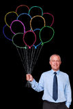 Geschäftsmanbündel Kreideballone Stockbilder