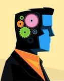 Geschäftsmann übersetzt Gehirn Stockfotografie
