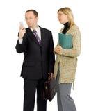 Geschäftsmann abgelenkt durch einen Telefonaufruf Lizenzfreie Stockfotos