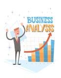 Geschäftsmann-Analysis Finance Graph-Finanzgeschäft Lizenzfreie Stockbilder