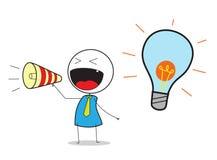 Geschäftsmann Announce Idea Vektor Abbildung