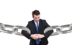 Geschäftsmann-Anschluss Lizenzfreies Stockfoto