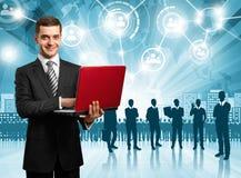 Geschäftsmann-Arbeitgeber Stockbilder