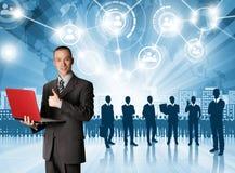 Geschäftsmann-Arbeitgeber Lizenzfreies Stockfoto