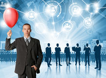 Geschäftsmann-Arbeitgeber Lizenzfreie Stockbilder