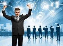 Geschäftsmann-Arbeitgeber Lizenzfreie Stockfotos