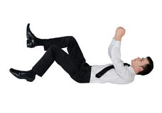 Geschäftsmann auf eingebildetem Seil Lizenzfreies Stockbild