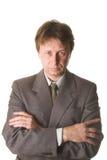 Geschäftsmann auf Weiß Stockbilder