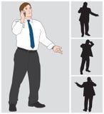 Geschäftsmann auf Zelle 4 Stockfoto