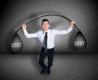 Geschäftsmann-Aufzuggewicht Lizenzfreies Stockbild