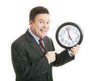 Geschäftsmann - Beenden von Zeit Stockfoto