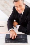 Geschäftsmann bei der Arbeit Stockfotografie