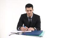 Geschäftsmann bei der Arbeit Lizenzfreie Stockbilder