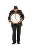 Geschäftsmann: Bereiten Sie für das Beendigen von Zeit vor Stockfotografie
