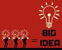 Geschäftsmann Big Idea Stock Abbildung