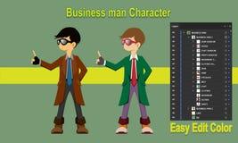 Geschäftsmann-Charakter-Vektor lizenzfreie abbildung