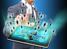 Geschäftsmann-Choosing-Person in der alten Beschaffenheit Lizenzfreie Stockbilder