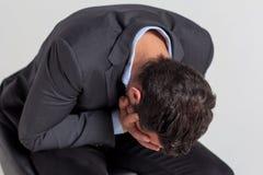 Geschäftsmann Crying Lizenzfreie Stockfotos