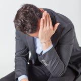 Geschäftsmann Crying Lizenzfreie Stockfotografie