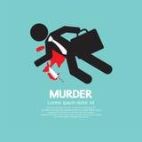 Geschäftsmann-Is Dead By-Mord lizenzfreie abbildung