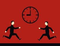 Geschäftsmann Deadline Time Stock Abbildung