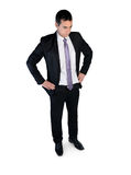 Geschäftsmann denken Lösung Stockfotos