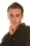 Geschäftsmann - denkendes Gesicht Lizenzfreie Stockfotografie