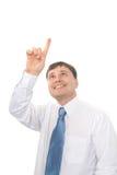 Geschäftsmann, der choise bildet Stockfoto