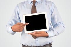 Geschäftsmann, der digitalen Tabletten-PC hält Lizenzfreies Stockbild