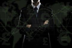 Geschäftsmann, der ein pda verwendet Stockfoto