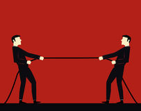 Geschäftsmann, der ein Seil zieht Vektor Abbildung