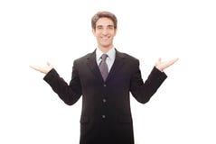 Geschäftsmann, der eine Rede gibt lizenzfreie stockbilder