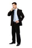 Geschäftsmann, der einen Aufruf bildet Lizenzfreie Stockbilder