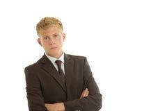 Geschäftsmann, der ernsthaft schaut Lizenzfreies Stockbild