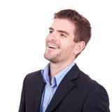 Geschäftsmann, der etwas betrachtet Lizenzfreies Stockfoto