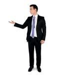 Geschäftsmann, der etwas darstellt Stockfoto