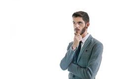 Geschäftsmann, der an etwas denkt Stockfoto