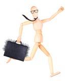 Geschäftsmann, der Fall mit Geld hält Lizenzfreie Stockfotografie