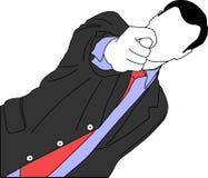 Geschäftsmann, der Finger zeigt lizenzfreies stockbild