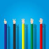 Geschäftsmann, der Handzeichen zählt Lizenzfreies Stockfoto