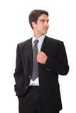 Geschäftsmann in der Klage stockfoto