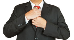 Geschäftsmann in der Klage und in der Gleichheit lizenzfreie stockbilder