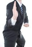 Geschäftsmann bereit anzugreifen Lizenzfreie Stockfotos