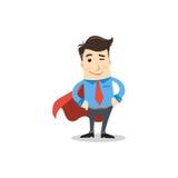 Geschäftsmann der Superheld Stockbild