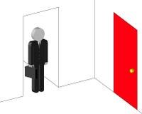 Geschäftsmann an der Tür Stockbild