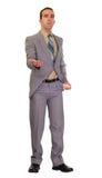 Geschäftsmann, der um Geld bittet Lizenzfreies Stockbild