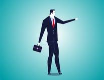 Geschäftsmann, der vorwärts zeigt Lizenzfreies Stockbild