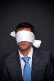 Geschäftsmann die Augen verbunden Lizenzfreie Stockfotografie