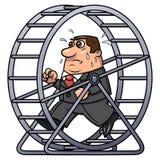 Geschäftsmann in einem Hamsterrad 2 Stockbilder